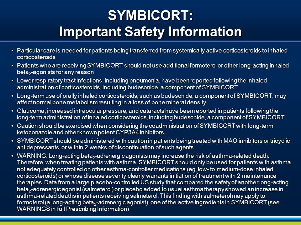 SYMBICORT: Important Safety Information