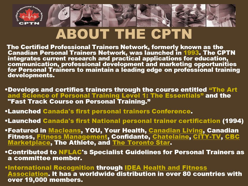 Cptn Personal Training Certification Ppt Download