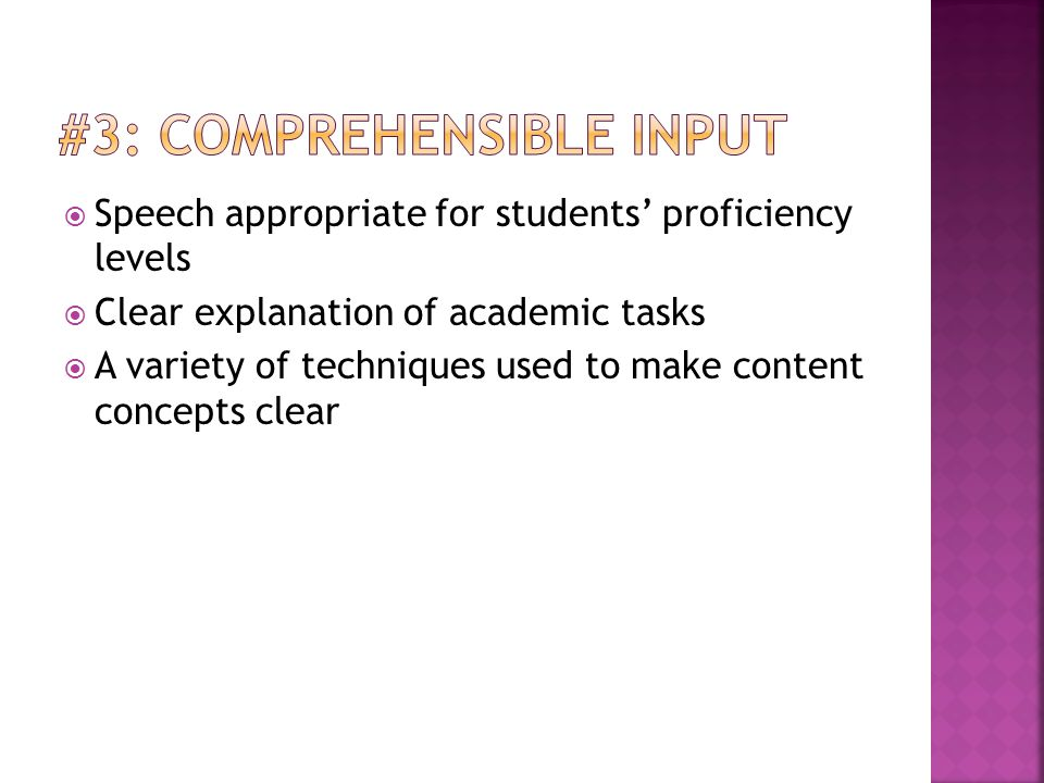 #3: Comprehensible Input