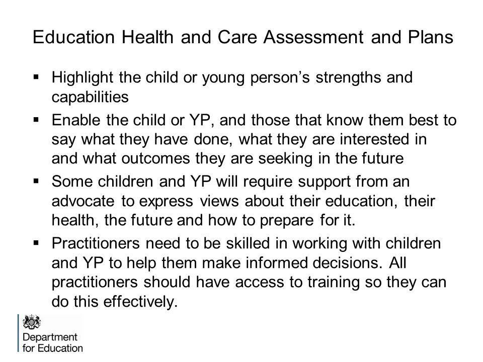 Education Health and Care Assessment and Plans