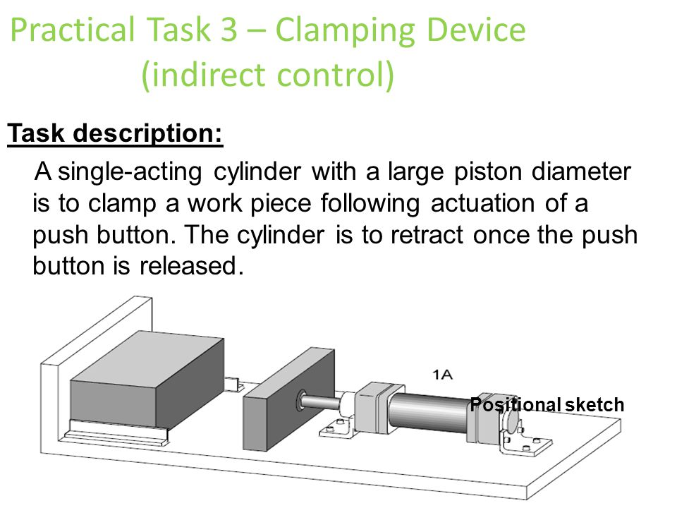 Practical Task 3 – Clamping Device (indirect control)