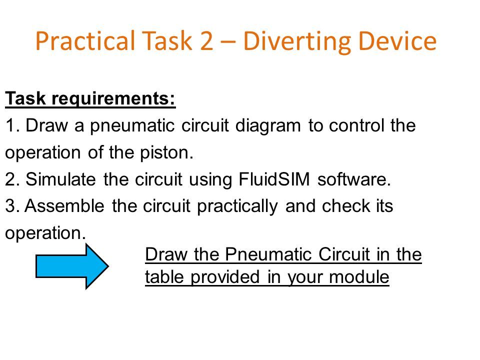 Practical Task 2 – Diverting Device