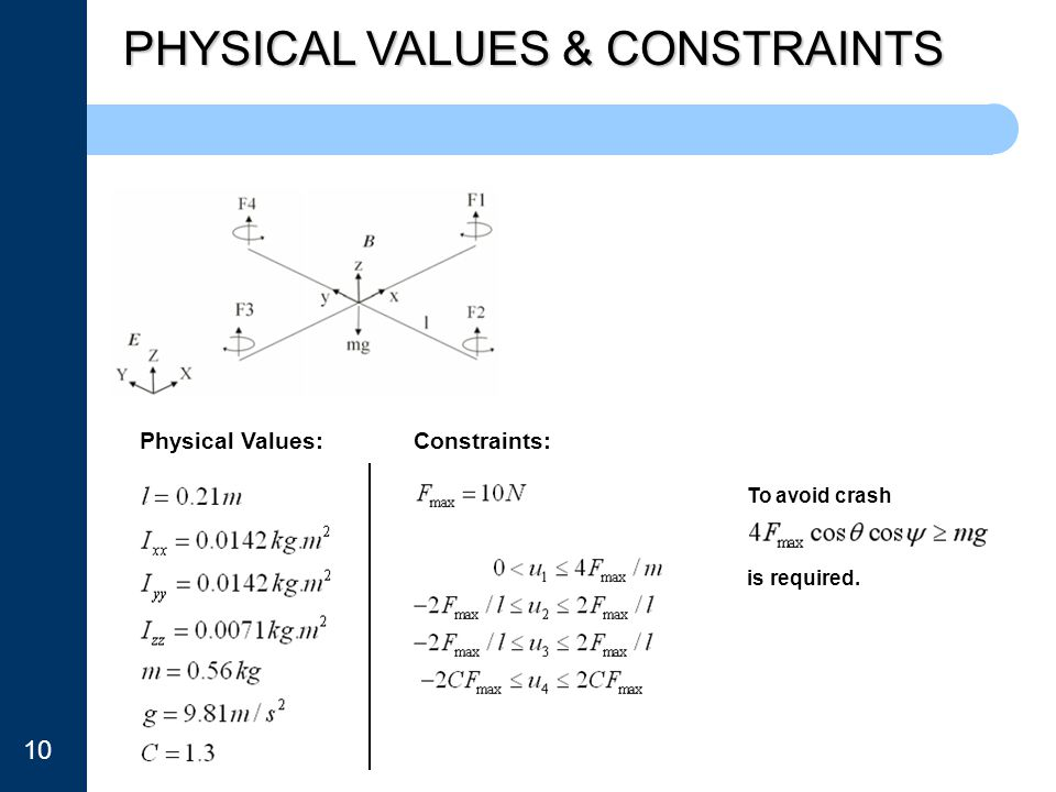 PHYSICAL VALUES & CONSTRAINTS