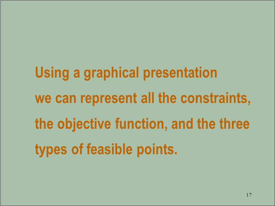 Using a graphical presentation