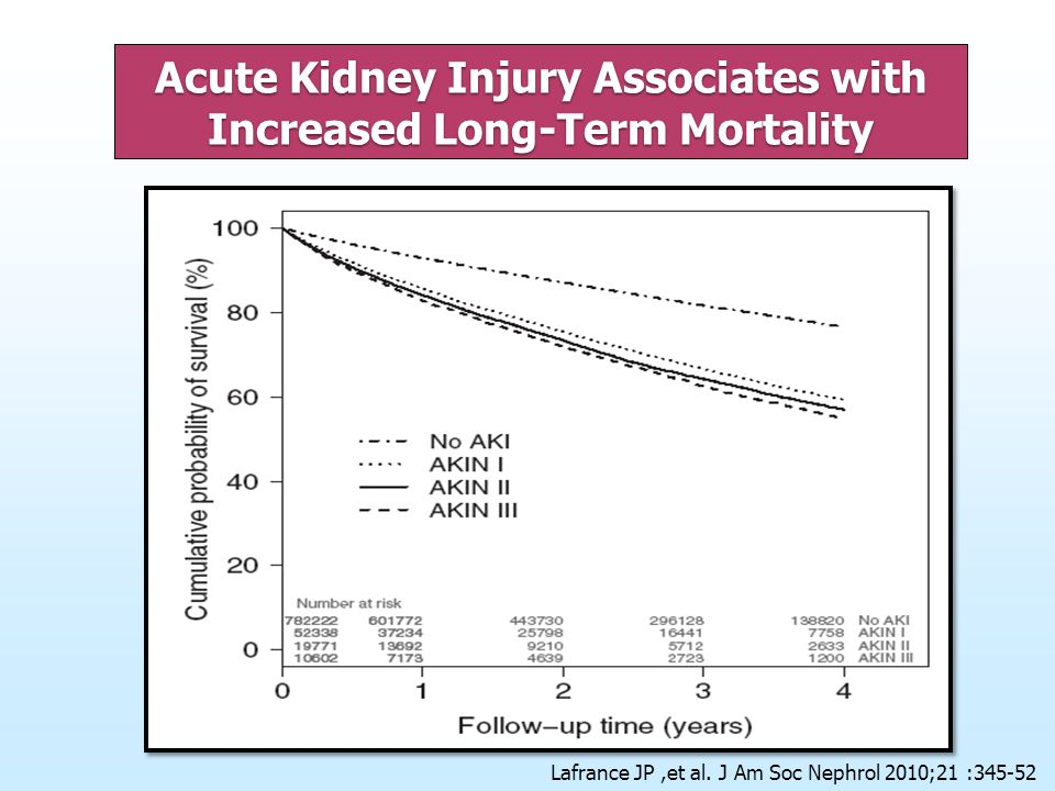 Acute Kidney Injury Associates with Increased Long-Term Mortality
