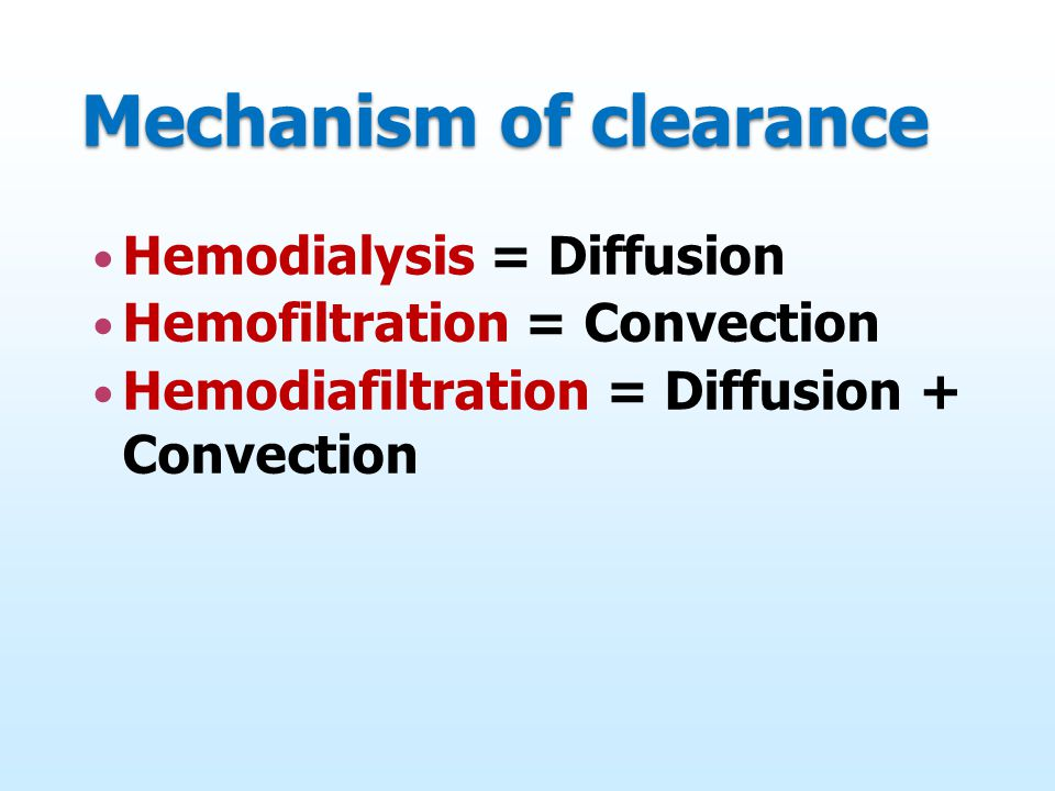 Mechanism of clearance