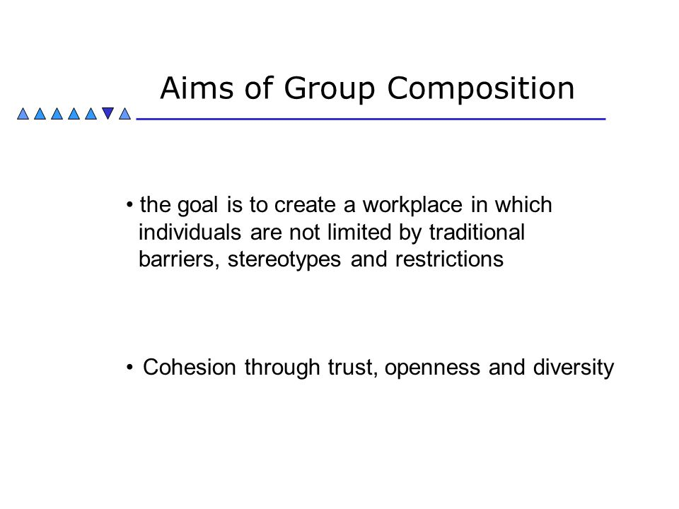 Aims of Group Composition