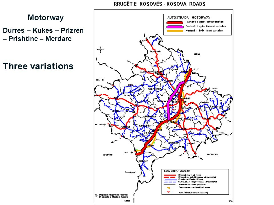 Three variations Motorway