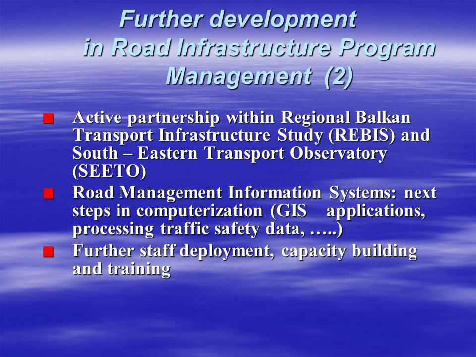 Further development in Road Infrastructure Program Management (2)