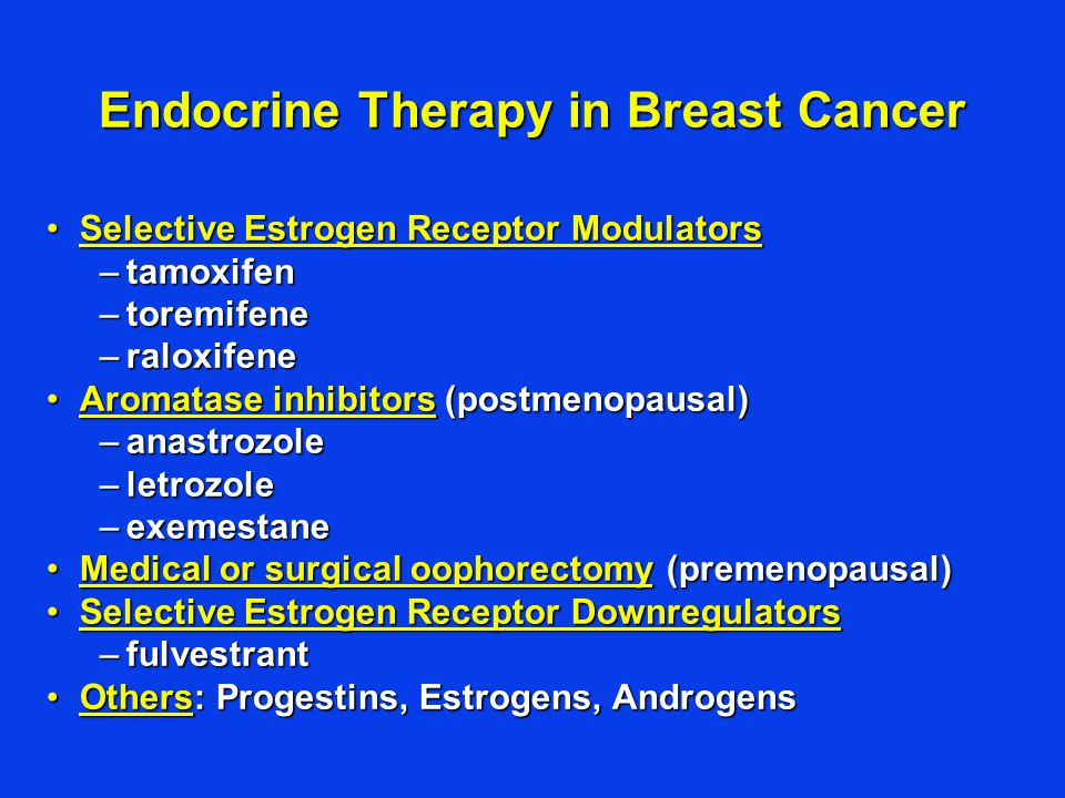 Endocrine therapy for breast cancer.