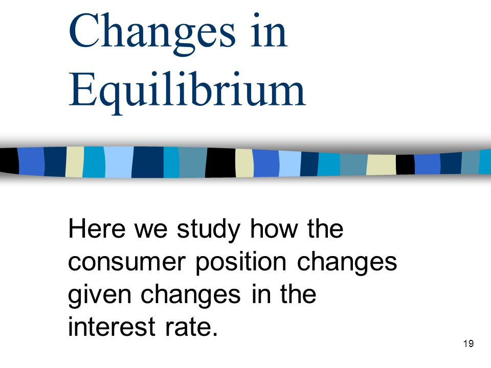 Changes in Equilibrium