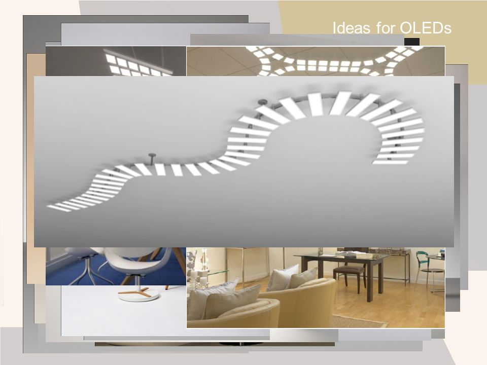 Ideas for OLEDs