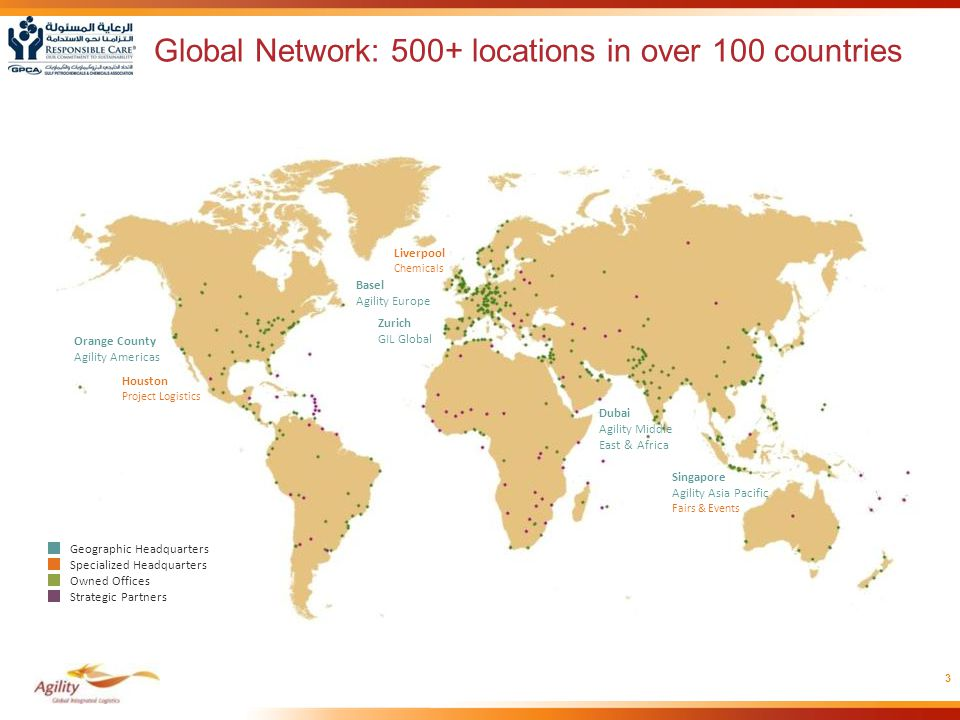 Global Network: 500+ locations in over 100 countries