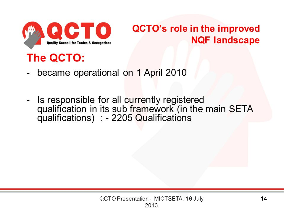 QCTO's role in the improved NQF landscape