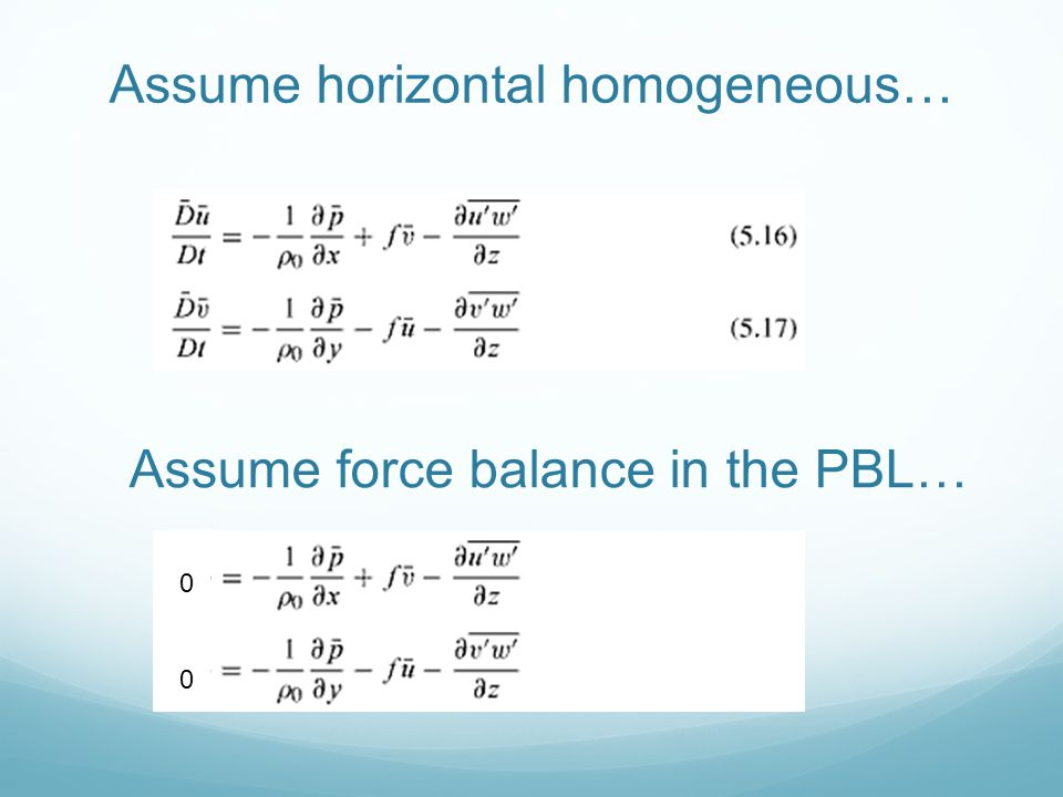 Assume horizontal homogeneous…