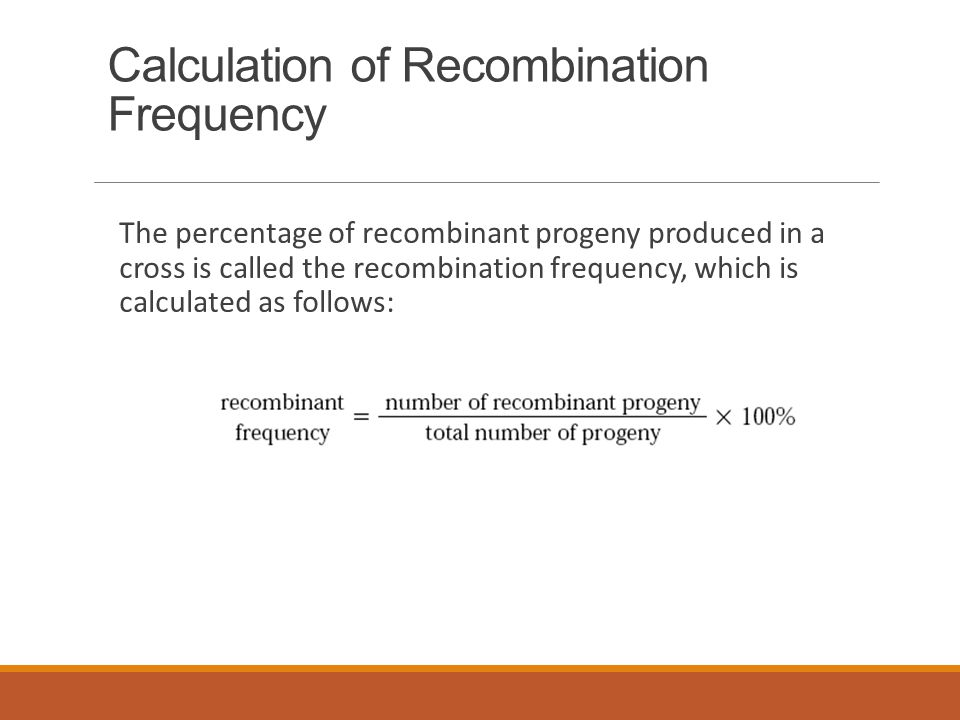 Calculation of Recombination Frequency