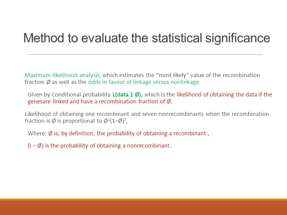 Method to evaluate the statistical significance