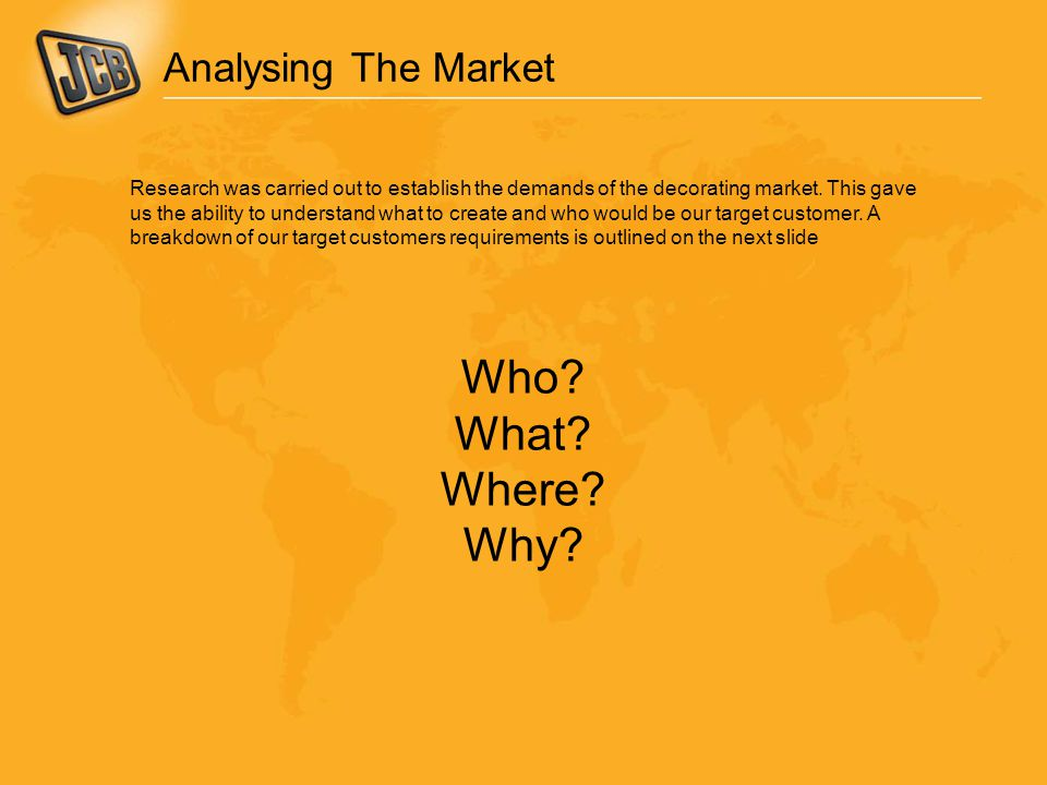 Who What Where Why Analysing The Market