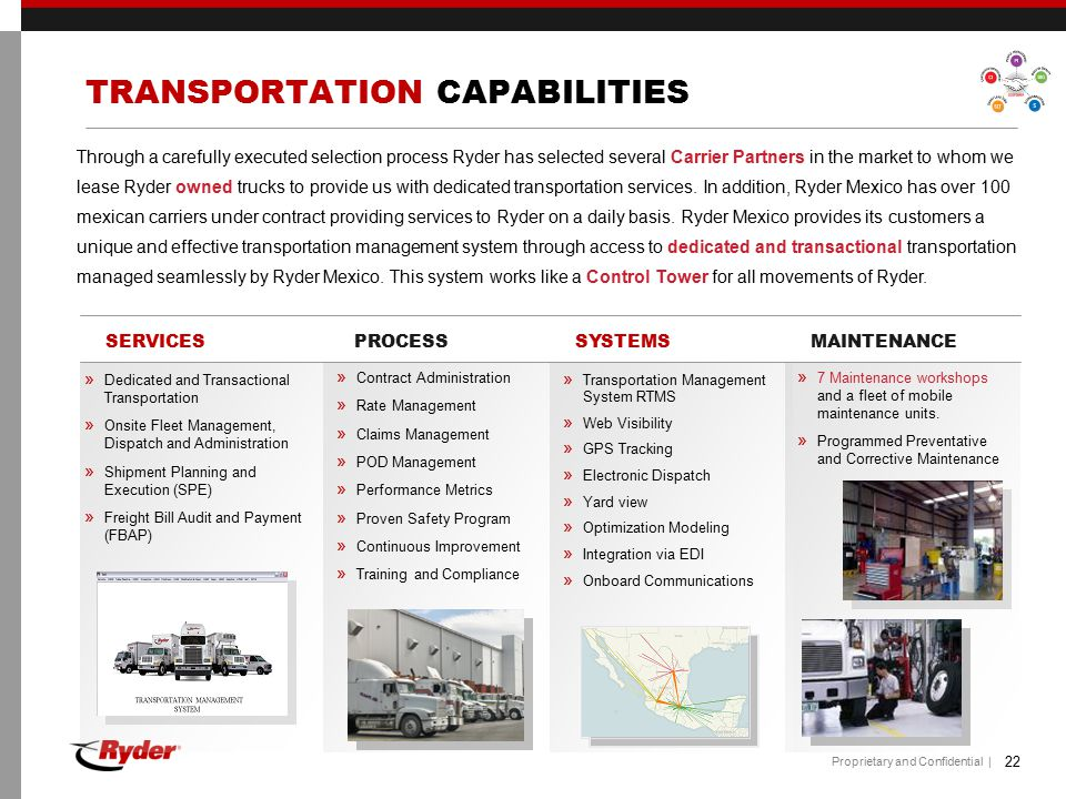 TRANSPORTATION CAPABILITIES