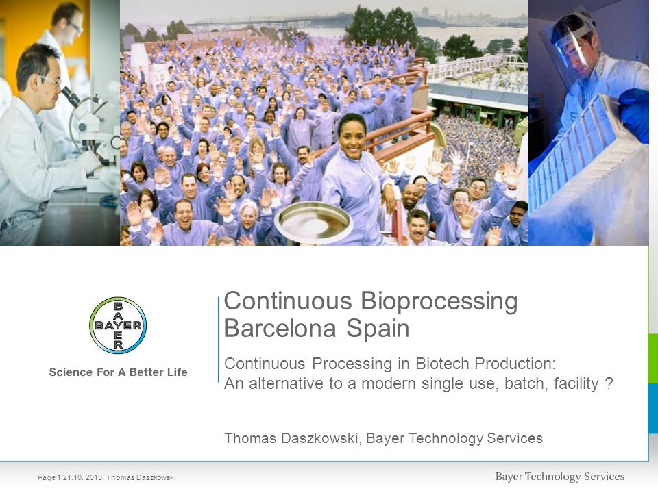 Continuous Bioprocessing Barcelona Spain