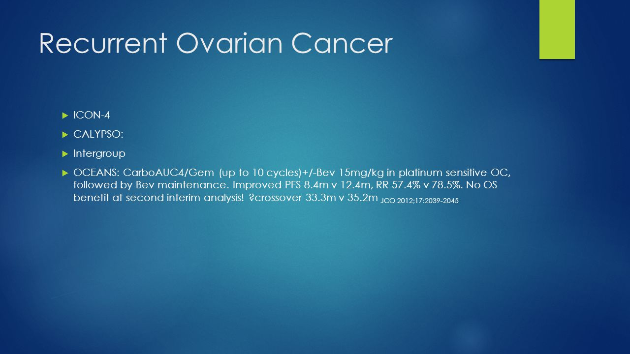 Recurrent Ovarian Cancer