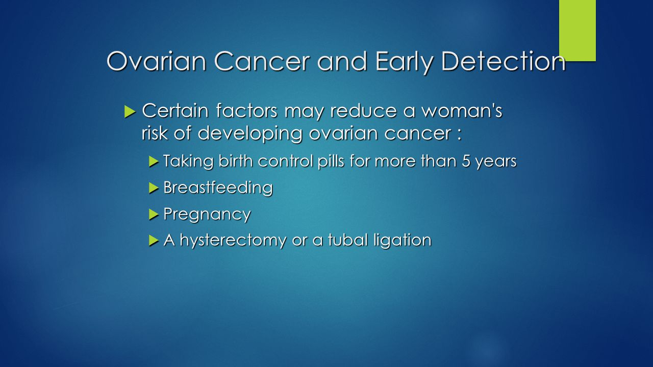 Ovarian Cancer and Early Detection