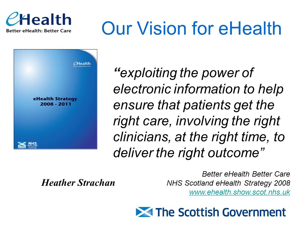 Our Vision for eHealth