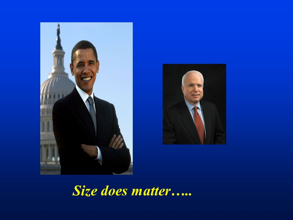 Size does matter…..