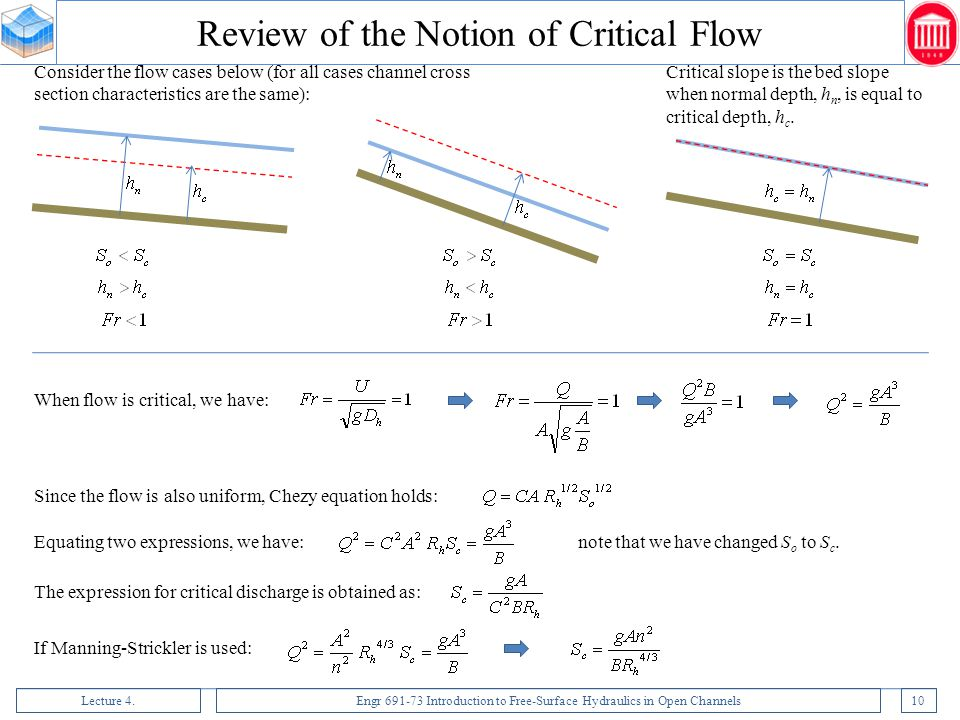 Review of the Notion of Critical Flow