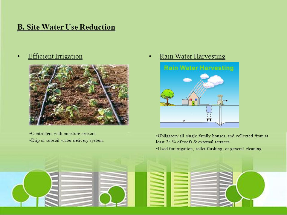 B. Site Water Use Reduction
