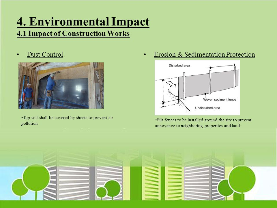 4. Environmental Impact 4.1 Impact of Construction Works