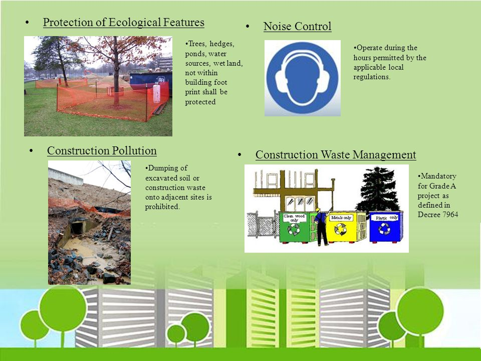 Protection of Ecological Features Noise Control