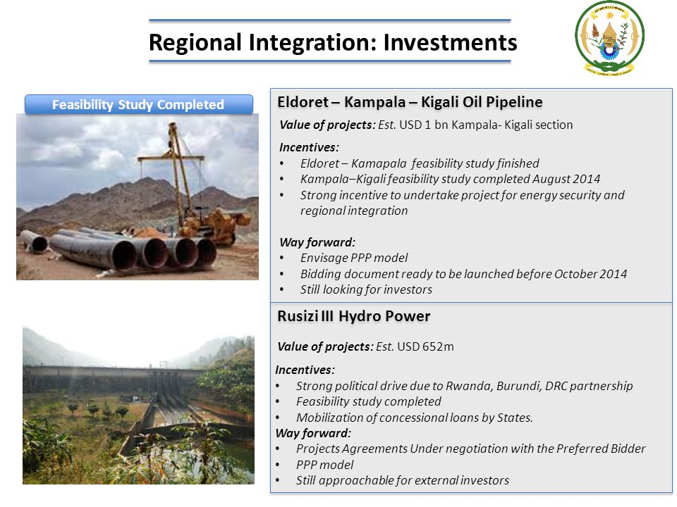 Regional Integration: Investments Feasibility Study Completed