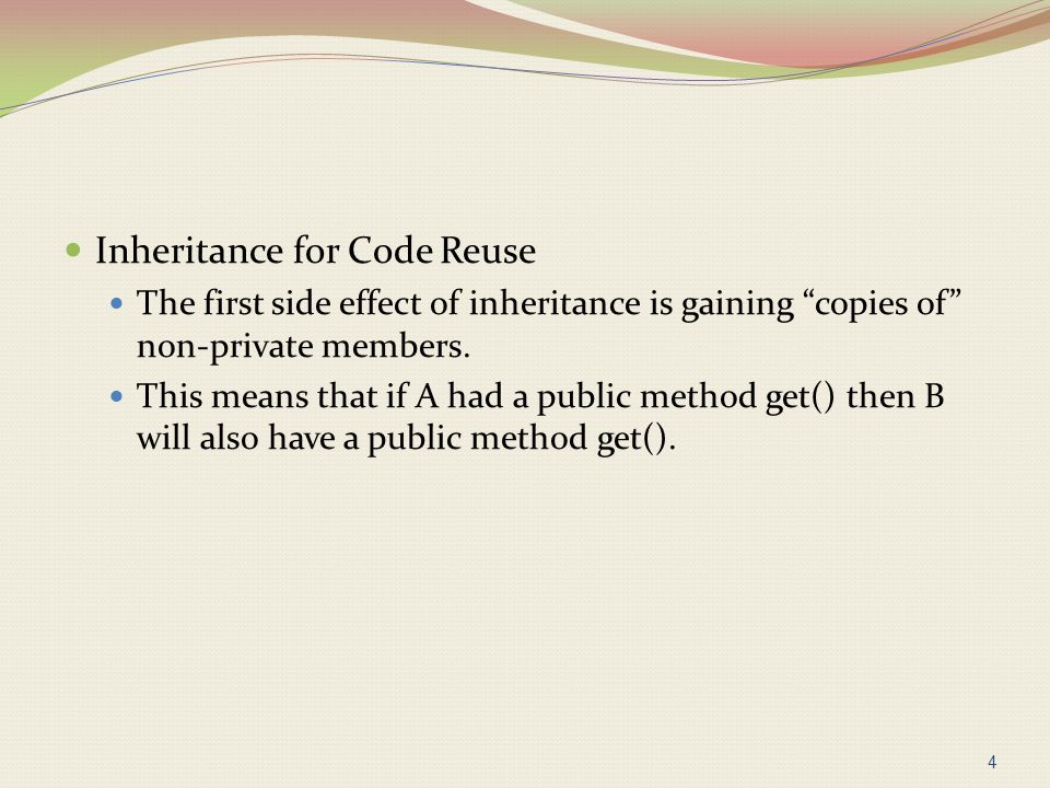 Inheritance for Code Reuse