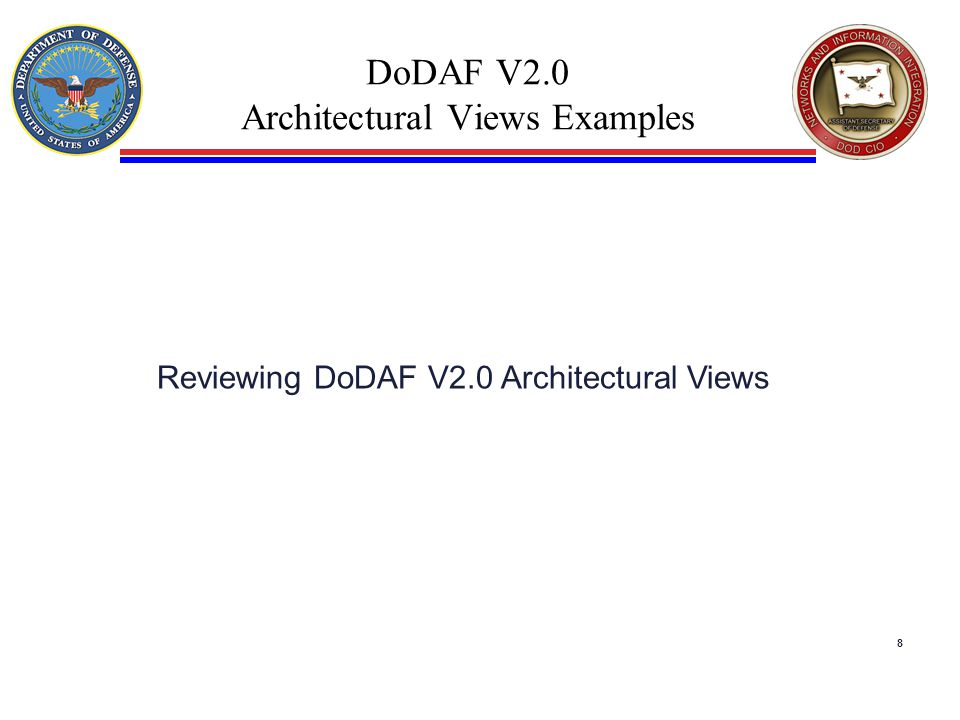 DoDAF V2.0 Architectural Views Examples