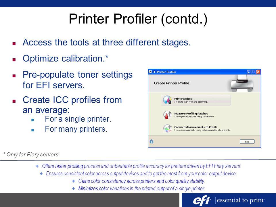 EFI Color Profiler Suite - ppt download