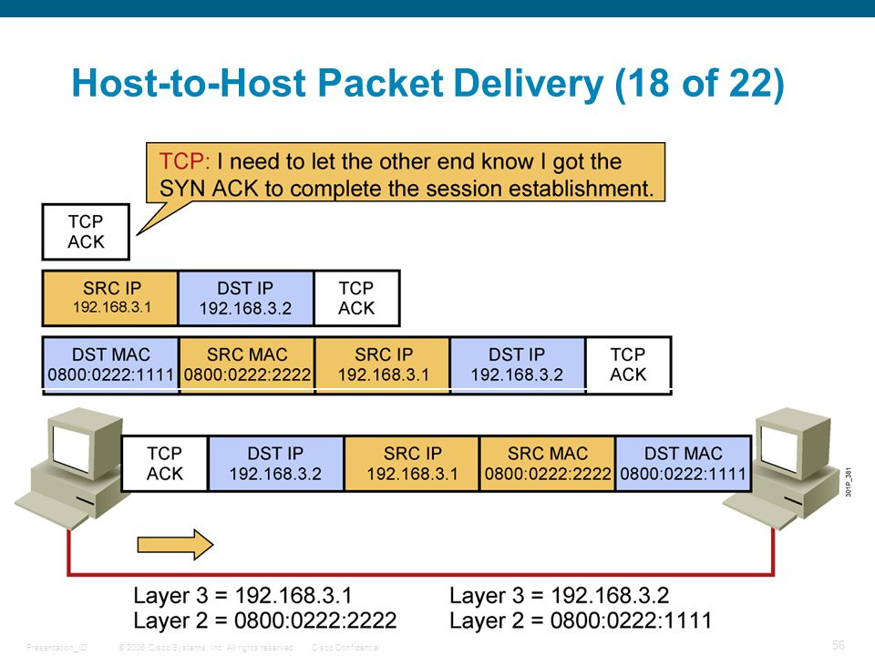 Host-to-Host Packet Delivery (18 of 22)