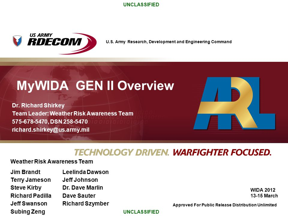 MyWIDA GEN II Overview Dr. Richard Shirkey