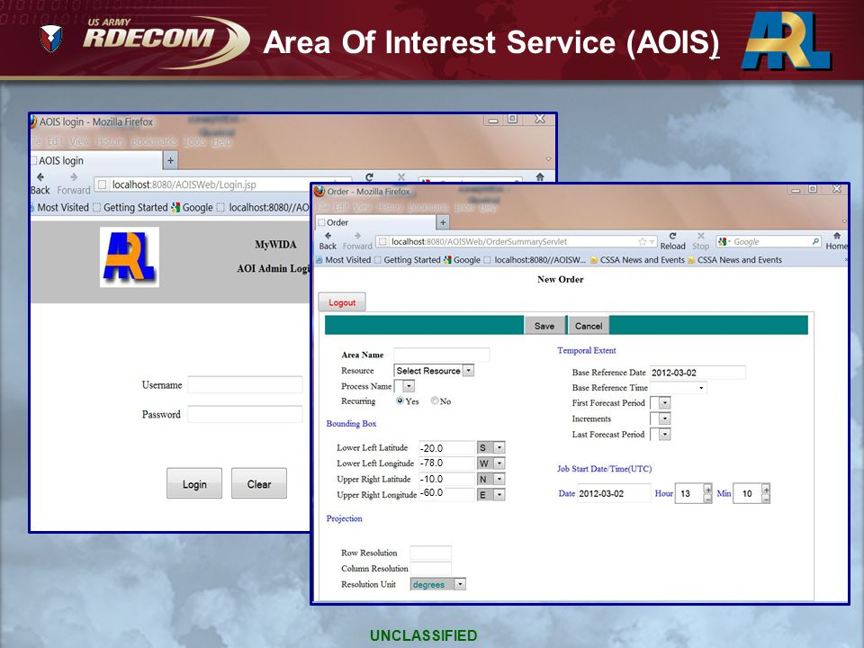 Area Of Interest Service (AOIS)