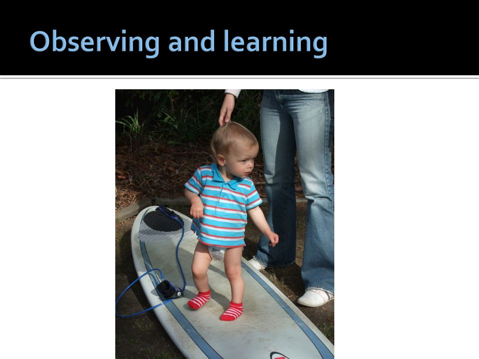 Observing and learning