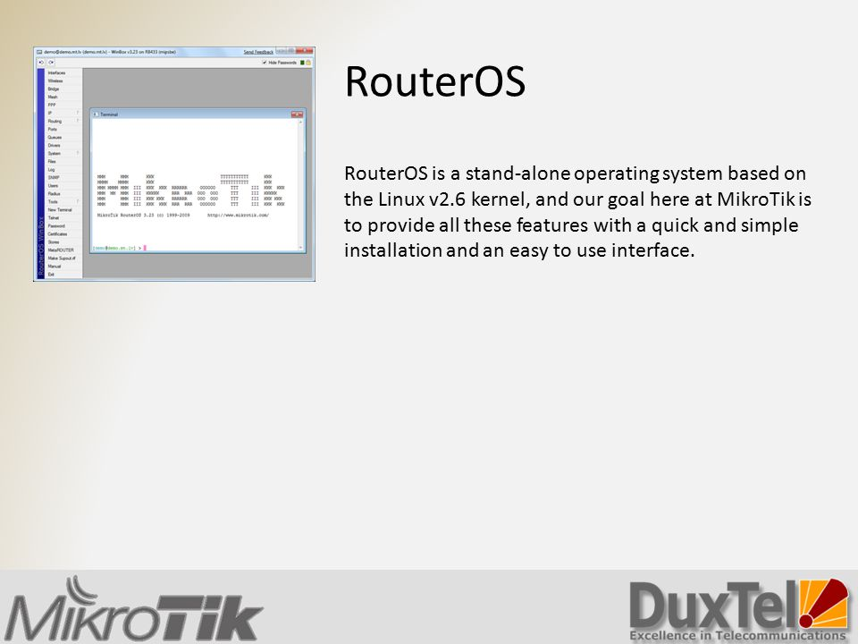 Introducing Mikrotik RouterBoard and RouterOS - ppt video