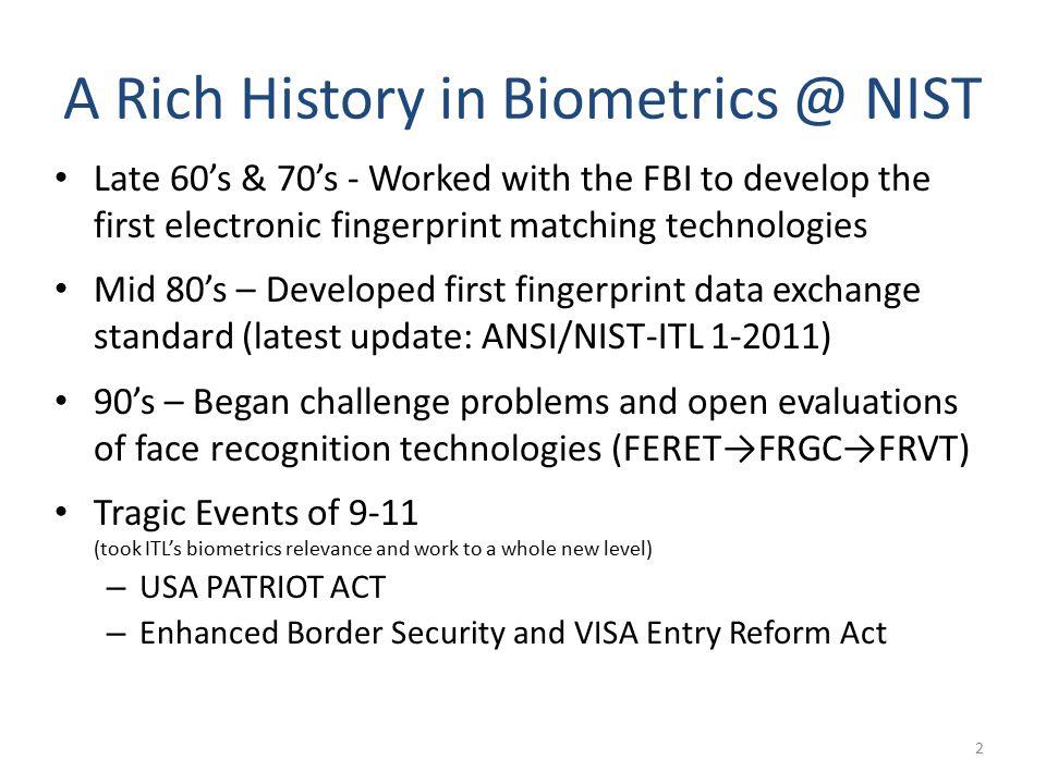 NIST Fingerprint Testing and Standards nist - ppt download