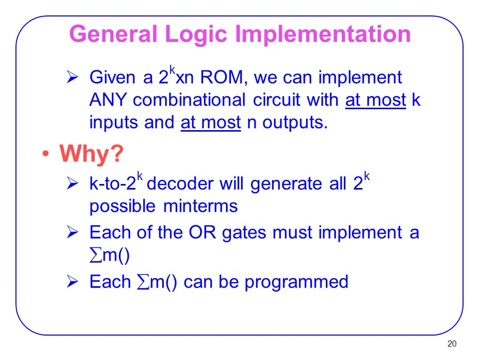 General Logic Implementation
