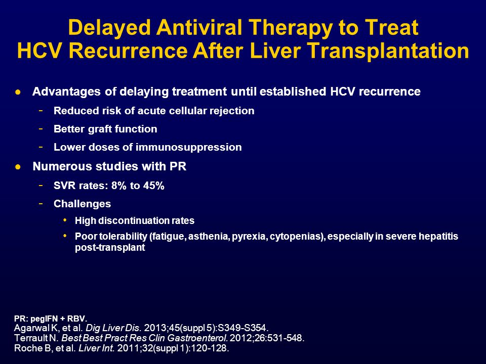 Delayed Antiviral Therapy to Treat HCV Recurrence After Liver Transplantation