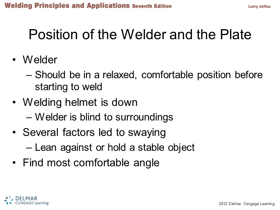 Position of the Welder and the Plate