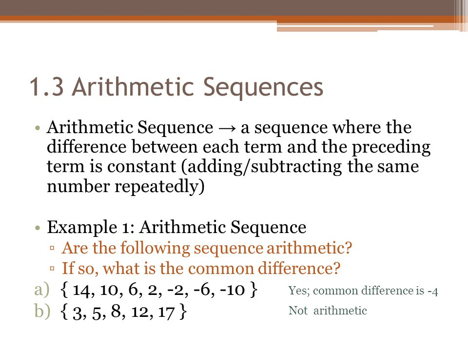 Chapter 1: Number Patterns 1.3: Arithmetic Sequences - ppt video ...