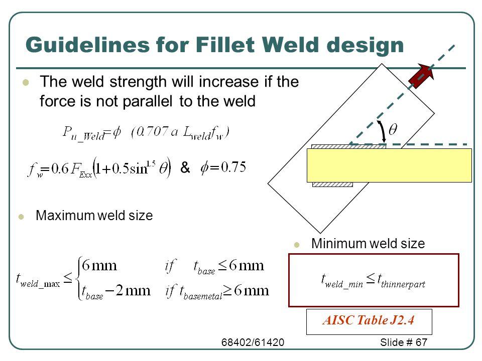 fillet weld strength calculation pdf