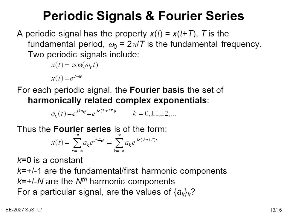 Periodic Signals & Fourier Series