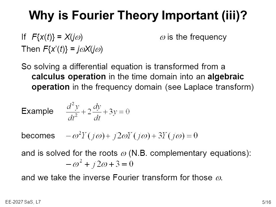 Why is Fourier Theory Important (iii)