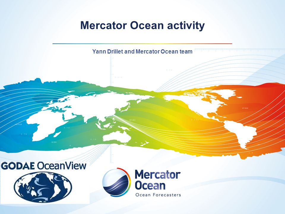 Mercator Ocean activity
